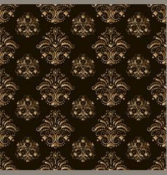 wallpaper seamless golden pattern on dark vector image