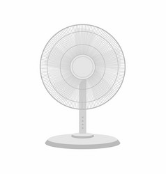 white table fan vector image