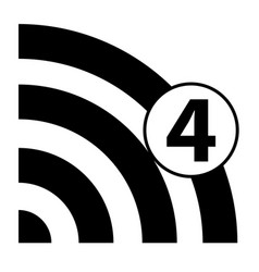 wi-fi 4g vector image
