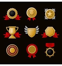 Achievement icons set vector image