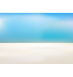 Beach and tropical sea vector image
