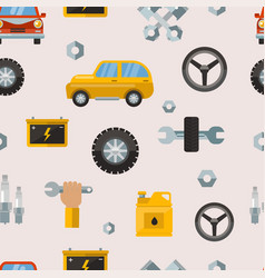 car service repair parts seamless pattern vector image