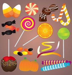 Halloween Candy Set vector image