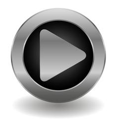 Metallic play button vector image vector image