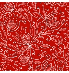 Pomegranate seamless pattern vector image vector image