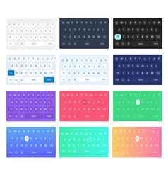 set of qwerty mobile keyboards keys vector image vector image