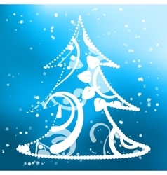Xmas tree abstract background vector image