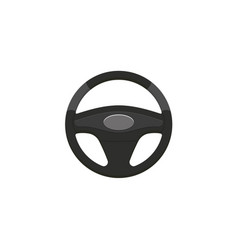 flat car steering wheel isolated icon vector image