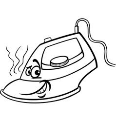 hot iron cartoon coloring page vector image vector image