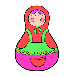 matryoshka icon cartoon vector image
