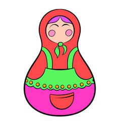 matryoshka icon cartoon vector image