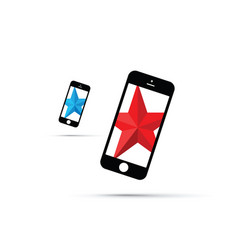 mobile phone star background star vector image vector image