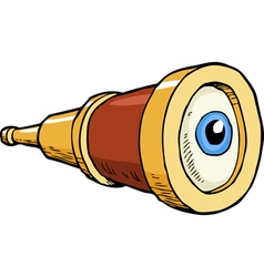 telescope with the eye vector image vector image