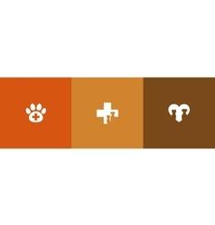 veterinary care symbols vector image