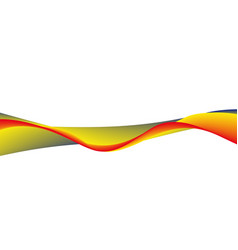 wavy wide line vector image vector image