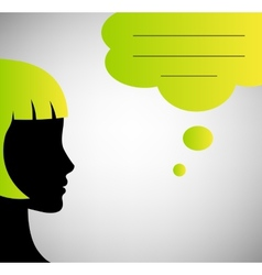 Abstract speaker silhouette with speech bubble vector image vector image