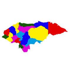 Politicla map of honduras vector