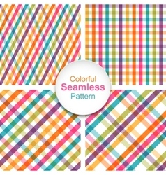 Set of colorful striped seamless patterns vector image