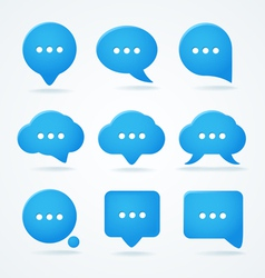 Speech clouds set vector image vector image