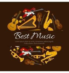 Best music emblem label poster cover vector image