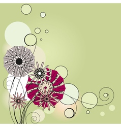 flowers the vignette vector image vector image