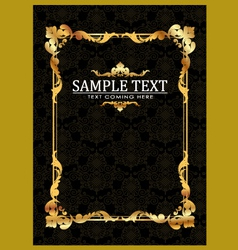 Gold frames template vector image vector image