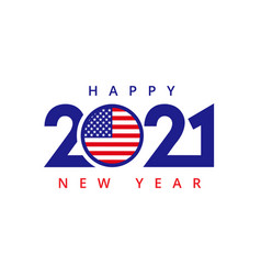 2021 happy new year usa vector image