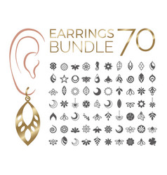 70 bundle earrings vector image