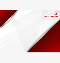 Abstract template red and white diagonal vector