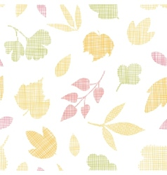 Abstract textile texture fall leaves seamless vector image