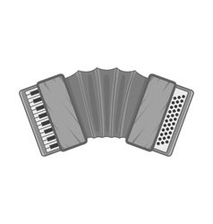 Accordion icon black monochrome style vector
