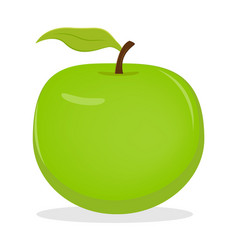 apple fruit icon isolated fruits and vegetables vector image