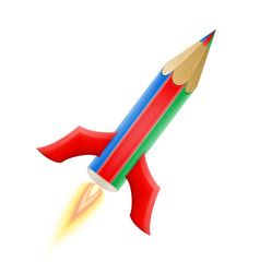art creative pencil concept rocket vector image