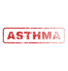Asthma rubber stamp vector