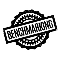 Benchmarking rubber stamp vector