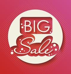 Big Sale Paper Folding Design vector image