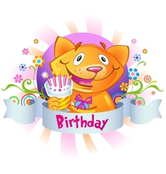 Birthday greetings vector image