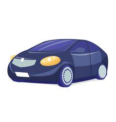 black car on white background business sedan vector image