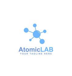 blue abstract molecule logo vector image