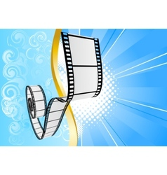 blue background with film vector image