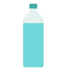 bottle with water icon flat isolated vector image