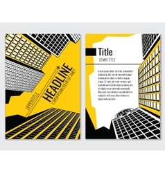 Business brochure template for vector