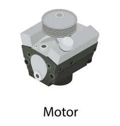 Car motor icon isometric style vector