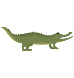 cartoon crocodile a green vector image