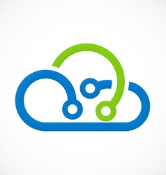 Cloud abstract technology logo vector