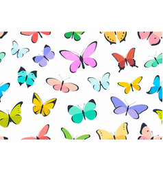 Colored seamless pattern butterfly vector