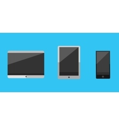 Computer portable tablet vector image