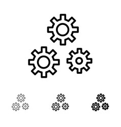 Configuration gears preferences service bold and vector