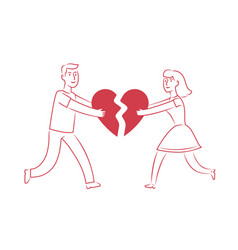 couple in love dating romantic date concept vector image