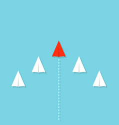 creative of crowd paper plane vector image